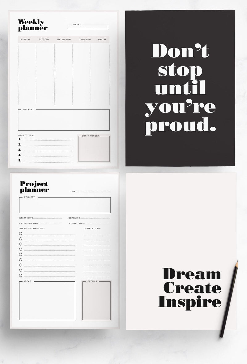 Productivity Planner Pack - Miss Poppy Design