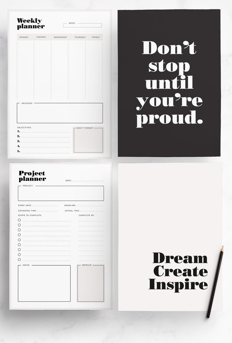 Productivity Planner Pack