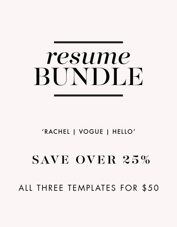 Resume Template Bundle - Miss Poppy Design