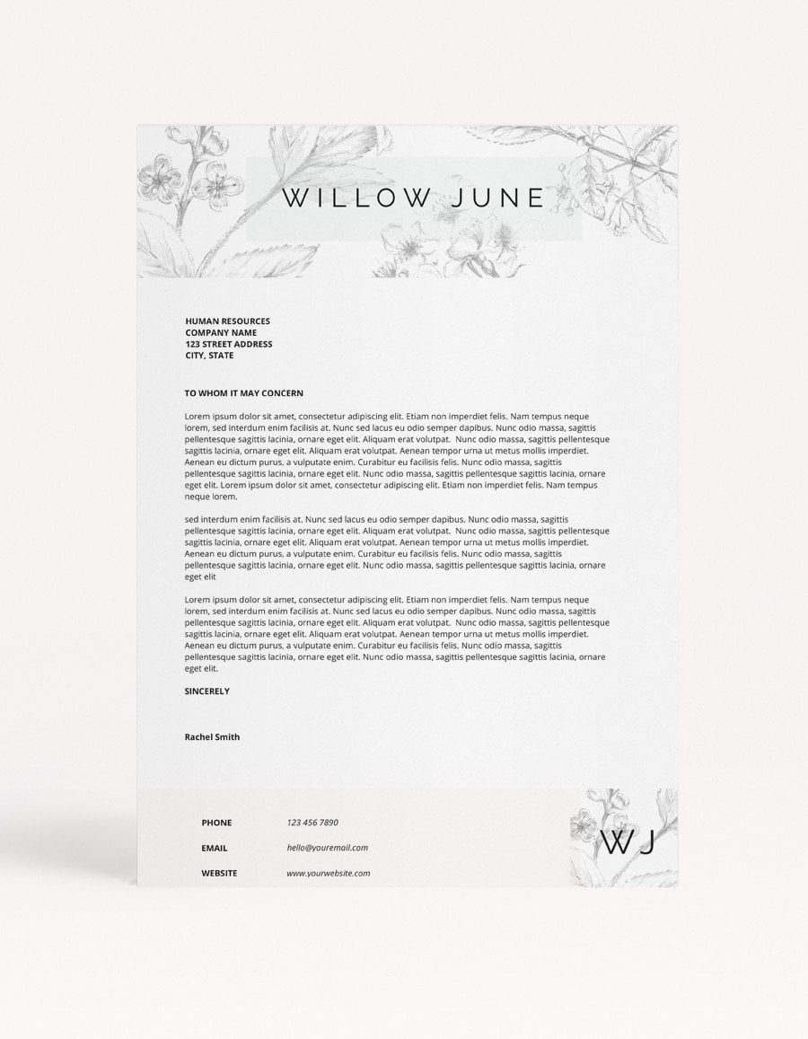 "Resume Template - ""Willow"""