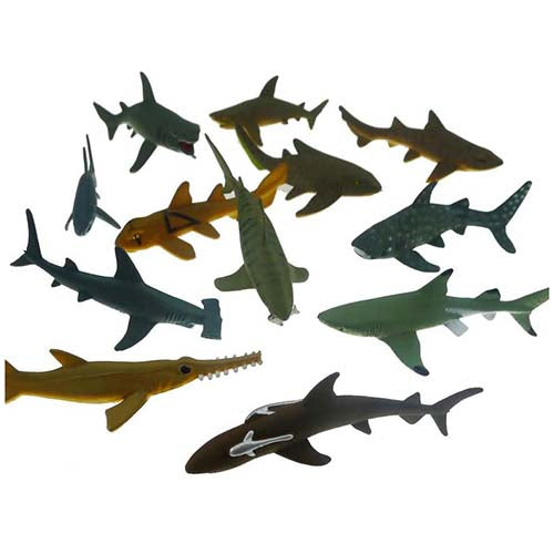 Shark Toy Animal Tube Set