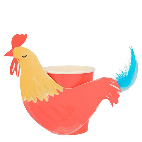 Meri Meri On the Farm Rooster Party Cups