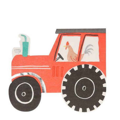 Meri Meri On the Farm Tractor Napkins