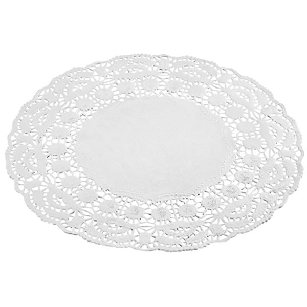 White Scalloped Large Pretty Doilies