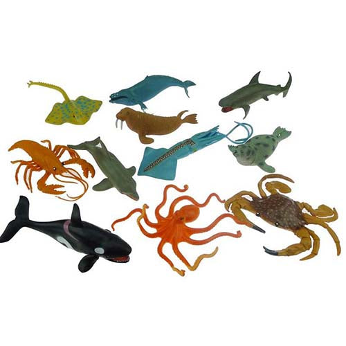 Large Under The Sea Toy Animal Set