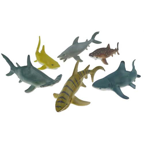 Large Shark Toy Animal Set