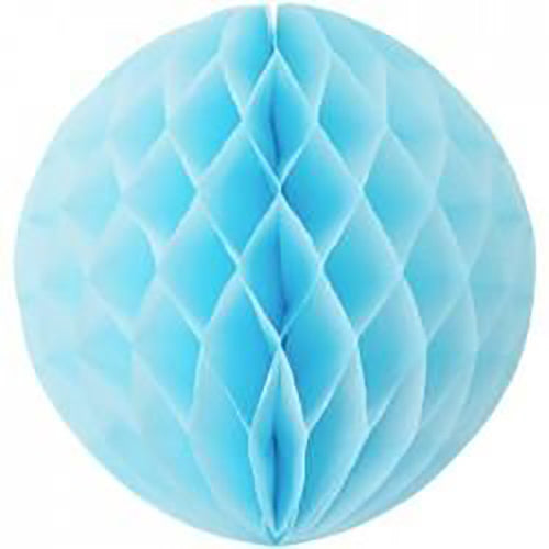 20cm Baby Blue Honeycomb Paper Ball