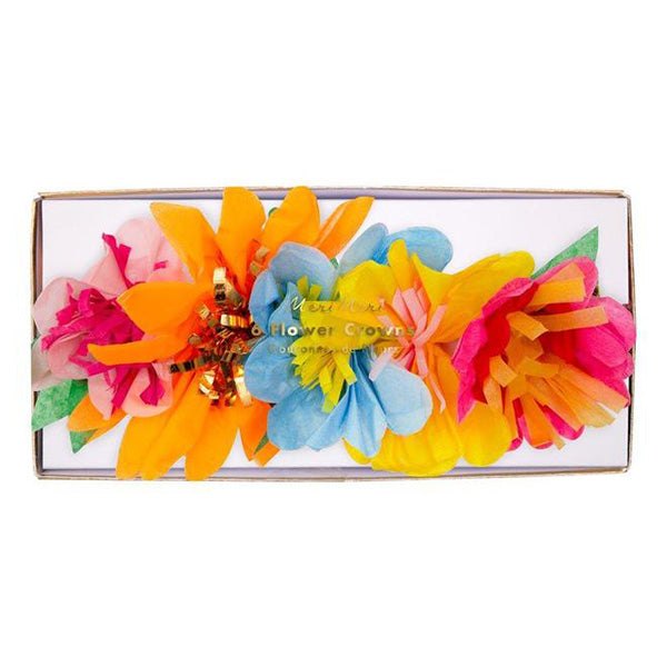 Bright Floral Blossom Party Crowns Meri Meri