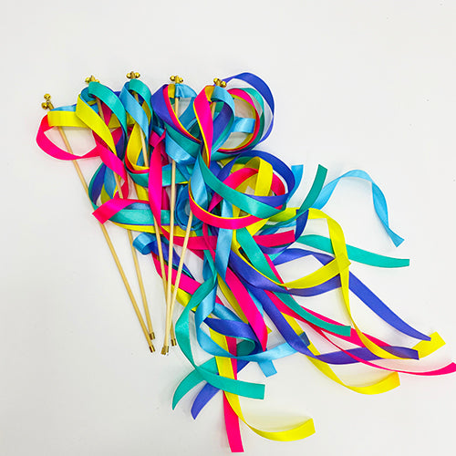 Rainbow Ribbon Wands