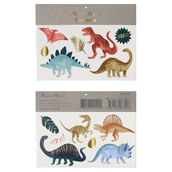 Dinosaur Kingdom Large Tattoos Meri Meri