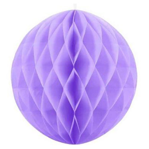 20cm Lavender Honeycomb Paper Ball