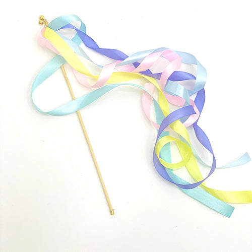 Pastel Rainbow Ribbon Wands