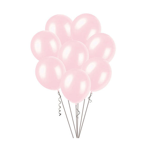 Pearl Baby Pink Latex Party Balloons