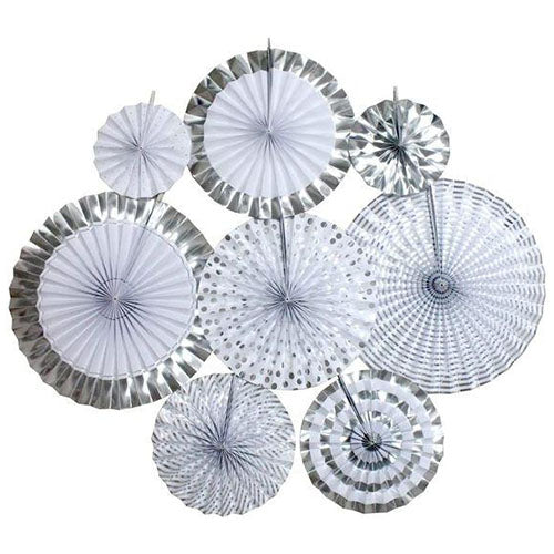 Silver Paper Fan Decoration Kit