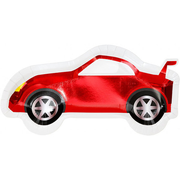 Red Race Car Shaped Party Plates