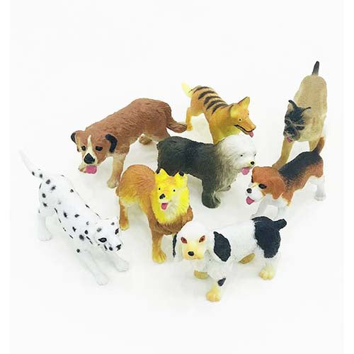 Puppy Dog Toy Animal Tube Set