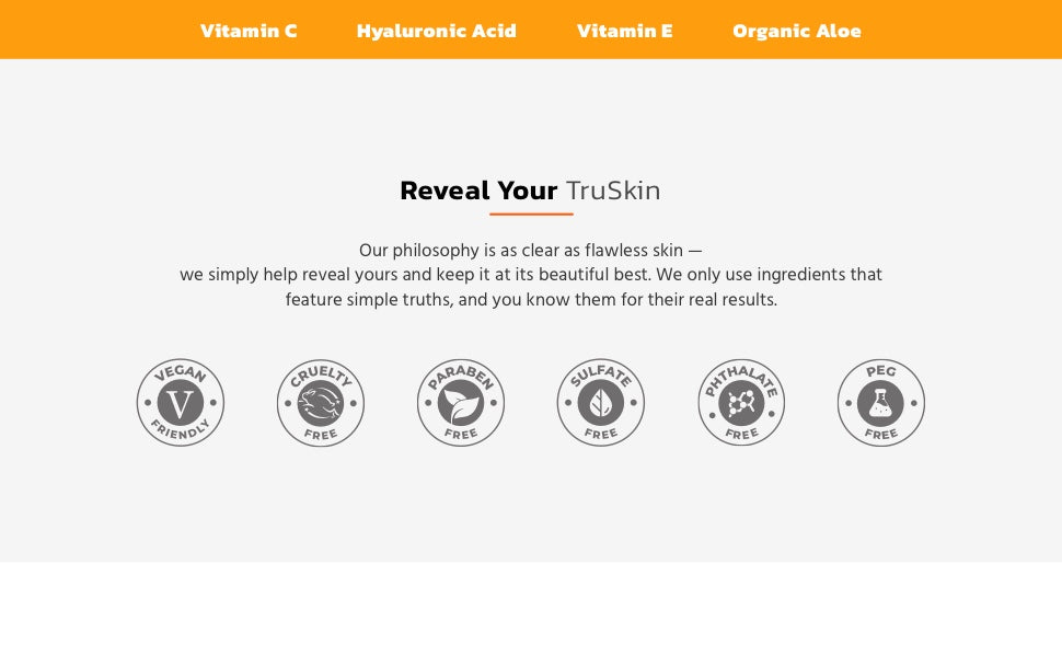 Reveal your TruSkin with Vitamin C Serum for face