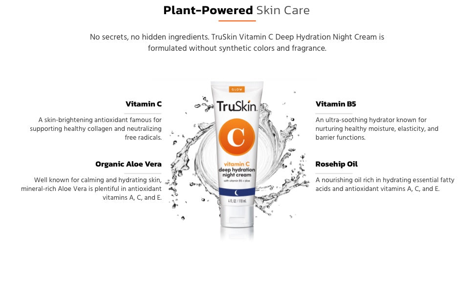 TruSkin Vitamin C Night Cream ingredients