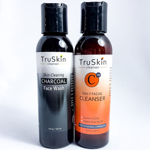 TruSkin Charcoal and Vitamin C Cleansers