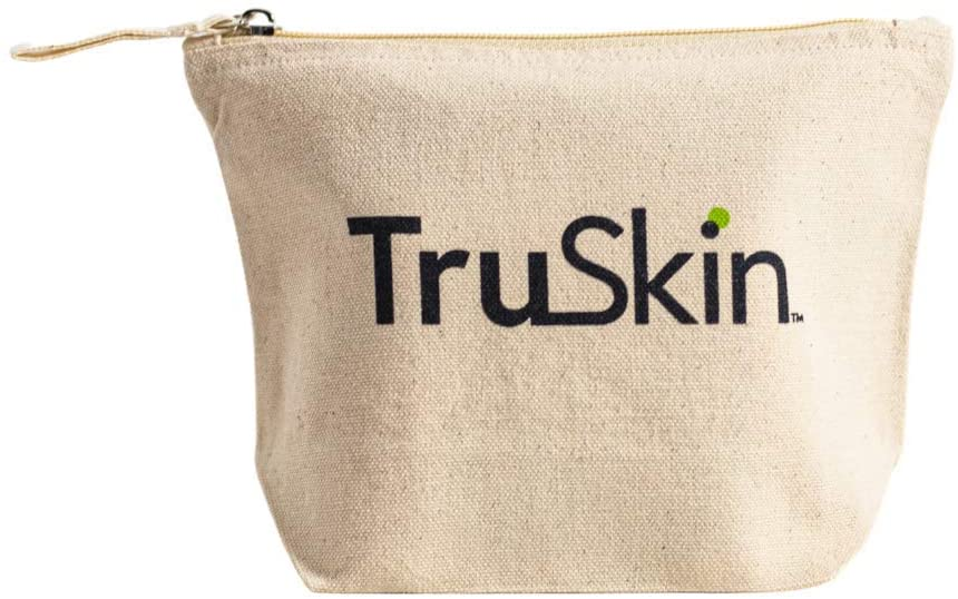 TruSkin 100% Organic Cotton Zippered Pouch/Cosmetic Bag