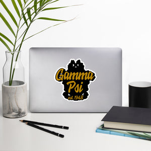 Gamma Psi bubble-free vinyl stickers