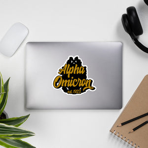 Alpha Omicron Bubble-free vinyl stickers