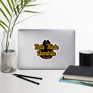 Beta Theta Lambda Bubble-free vinyl stickers