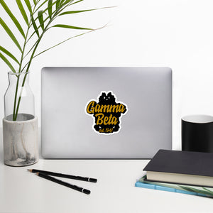 Gamma Beta bubble-free vinyl stickers