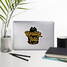 Load image into Gallery viewer, Upsilon Iota bubble-free vinyl stickers