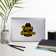 Load image into Gallery viewer, Kappa Omicron bubble-free vinyl stickers