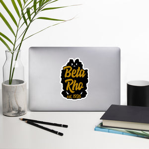 Beta Rho Bubble-free vinyl stickers