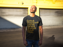 Load image into Gallery viewer, Black/Gold Seven Jewels T-Shirt