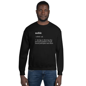 Black/White Noble Definition Sweatshirt