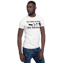 "Lade das Bild in den Galerie-Viewer, ""I'd Rather Be Down The Allotment"" Short-Sleeve Unisex T-Shirt- Light Colours"
