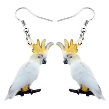 Load image into Gallery viewer, Australian Sulphur-crested Cockatoo Bird Earrings