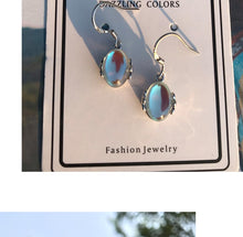 Load image into Gallery viewer, Moonstone Opal Stud Earrings - Kitty Cactus