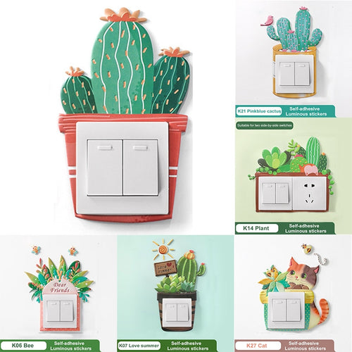 Switch It Up! Cactus Shaped Protective Light Switch Cover. - Kitty Cactus
