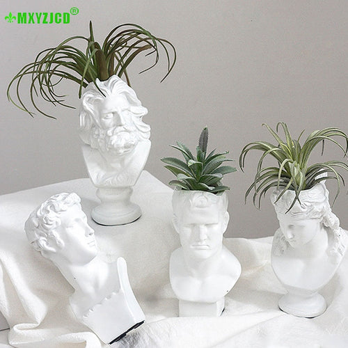 Small Philosopher Head Flower Vase - Kitty Cactus