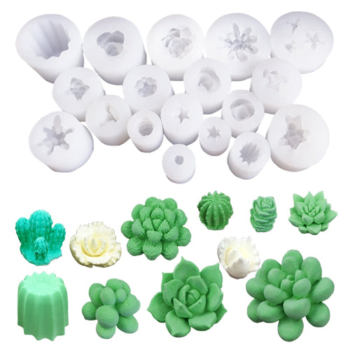 Make Your Own Ornaments! Small Succulent Silicone Mold - Kitty Cactus