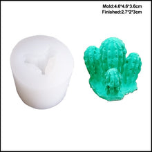 Load image into Gallery viewer, Make Your Own Ornaments! Small Succulent Silicone Mold - Kitty Cactus