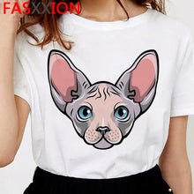 Load image into Gallery viewer, Sphinx cat tshirt - Kitty Cactus