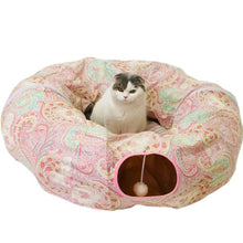 Load image into Gallery viewer, Collapsible Tunnel Bed for Pet Playtime