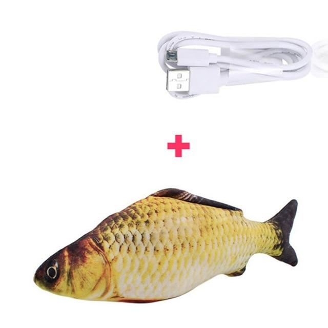 Electric USB Charging Simulation Fish Toys for Cat - Kitty Cactus