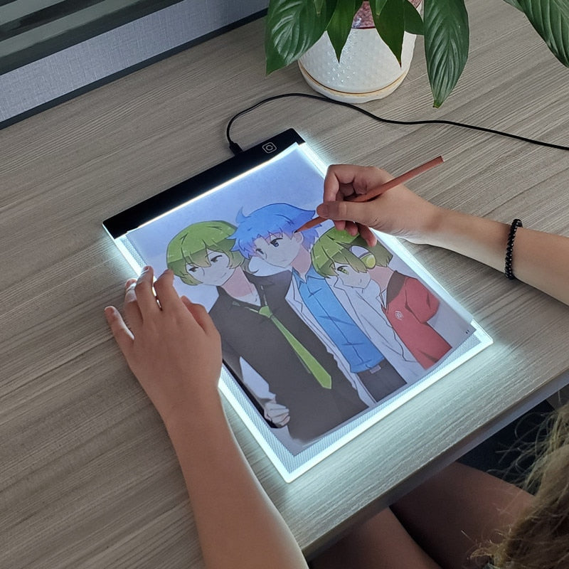 LED backlight Drawing Pad - Kitty Cactus