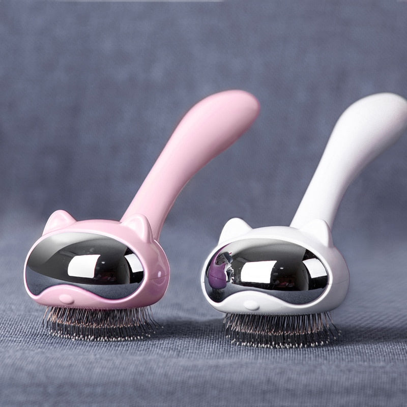 Brush It Out! Stainless Steel Cute Cat Brush