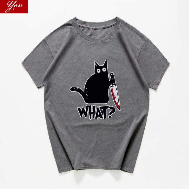 What? Suspicious Cat T-shirt.