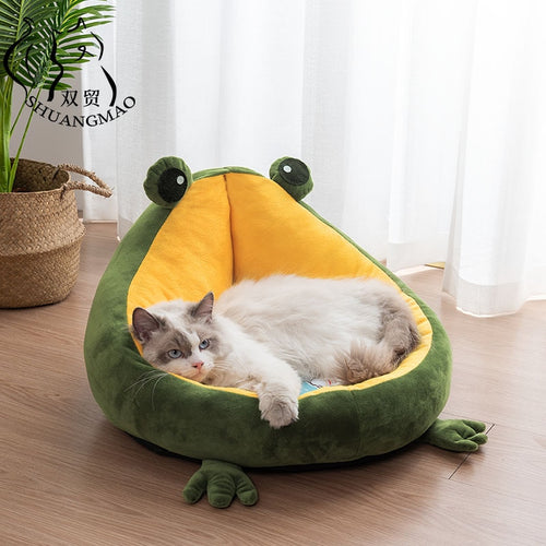 Froggy shaped pet Bed - Kitty Cactus