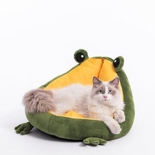Load image into Gallery viewer, Froggy shaped pet Bed - Kitty Cactus