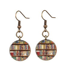 Load image into Gallery viewer, Vintage Bookshelf Earrings