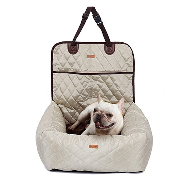 Plush Waterproof Car Pet Bed/Carrier.